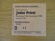 JUDAS PRIEST CONCERT TICKET 12TH NOVEMBER 1981 BIRMINGHAM ODEON SUPPORT ACCEPT