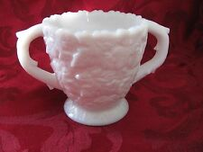 Westmoreland Glass white milk sugar MAPLE LEAF pattern no chips
