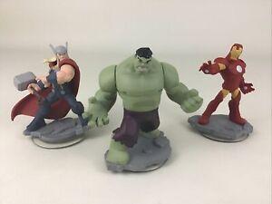 Disney Infinity 2.0 Marvel Interactive Game Pieces Hulk Thor Iron Man Figures