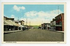 Main Street in Anchorage AK Rare Antique PC Signs--Bakery--Ice Cream 1920s