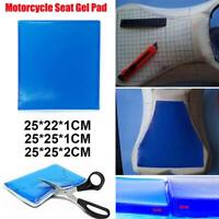 Motorcycle Seat Gel Pad Cover Shock Absorption Mat Comfortable Soft Cushion Blue