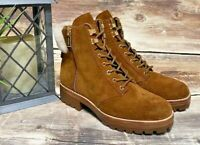 New Michael Kors Rosario Ankle Amber Brown Leather Suede Boots Size 6 M