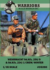 Warriors 1:35 Wehrmacht Sd.Kfz.250/9 & Sd.Kfz.234/1 Crew Winter - 2 Kit #35390