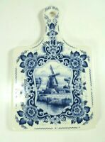 Delft Blue Hand Painted Ceramic Wall Plaque Windmill Dutch Colonial Decor