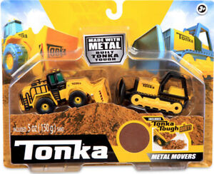 New Tonka Metal and Steel Bulldozer and Front Loader Set
