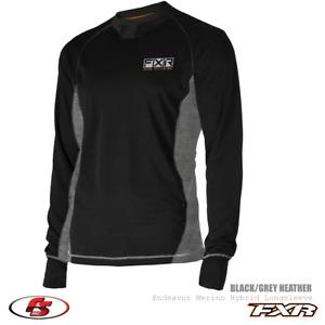 New FXR 2021 Men's Endeavor Merino Hybrid Longsleeve Base Layer Snowmobile Shirt