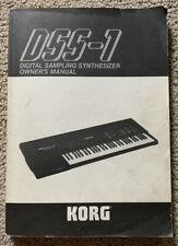 Korg DSS-1 Digital Sampling Vintage Synthesizer Owner's Synth Manual