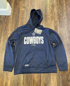 Dallas Cowboys New Era Combine Team Therma Blue Hoodie Jacket Men's Size XL NWT!