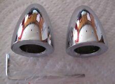 """Wiper Delete Bullets 5/8"""" Diameter Chrome Steel 1 PAIR Custom Hot Rod,Lead Sled"""