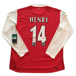 2006/07 Arsenal Home Jersey #14 Thierry HENRY XL Nike Long Sleeve Gunners NEW