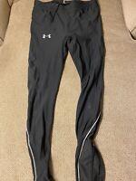 Men's Under Armour Black Compression Pants Running Tights Large L Pockets