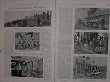 1898 BOER WAR ERA PRINT ~ INDIAN SCHOOL OF MUSKETRY AIMING DRILL REVOLVER RANGE