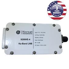 New Norsat 9200HE-4, Ka-Band PLL LNB 17.2 - 18.2 GHz F Type 75 Ohm