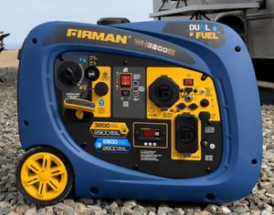 Firman 2900W Running / 3200W Peak Electric Start Dual Fuel Powered Inverter
