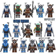 16Pcs Mini figures Star Wars Mandela  Clone Trooper Clone Army Trooper Fit Lego