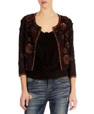 KAREN MILLEN JACKET BRONZE BROWN EMBELLISHED SZ 10UK RRP £265 SALE BNWT