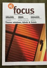 ARCHITECTS JOURNAL AJ FOCUS Oct 93 Windows Blinds Lintels, HQ In Nottingham