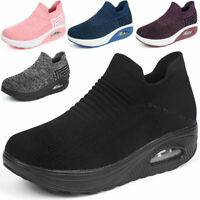Womens Air Cushion Sneakers Athletic Running Casual Non-slip Comfort Shoes Gym