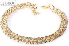 Le Bijou Statement-Collier Fecettenschliff gold-eloxiert