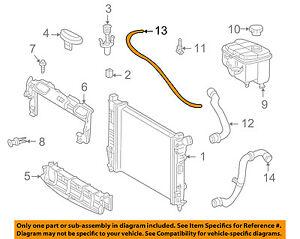 MERCEDES OEM 03-05 C230 1.8L-L4 Radiator-Front Hose 2035010025