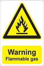 [ 205x290mm ] avertissement-gaz inflammable | | santé et sécurité signes / autocollants