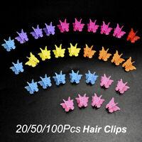 20/50/100 Pcs Mixed Color Butterfly Hair Clip Mini Hairpins Claws Cute Headdress