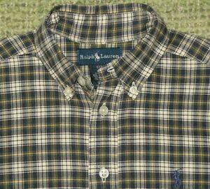 RALPH LAUREN Classic Plaid Button Front Shirt Boys Small S 8