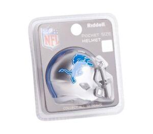 Detroit Lions NFL Helmet Riddell Pocket Pro Speed Style