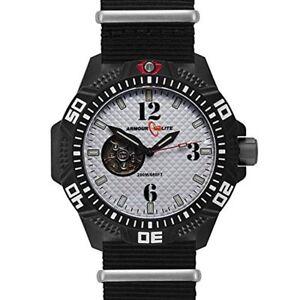 Armourlite Caliber Series Automatic White Dial Watch Nylon Band AL1202
