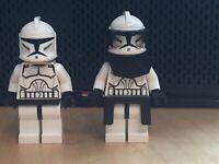 Lego Clone Trooper SW0201 Clone Commander sw0223 Minifigure - Star Wars