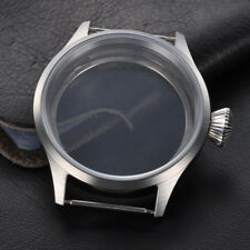 43mm Sapphire Glass Steel Watch Case Fit 6497/6498,Fit Two Size Tihckness Dial