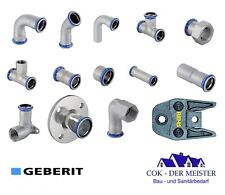 Original Geberit Mapress Edelstahl 12 - 108 mm Pressfittings Presszangen Bogen