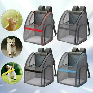 Outdoor Portable Pet Carrier Backpack Dog Cat Zipper Mesh M9C2 Breathable W8Y0