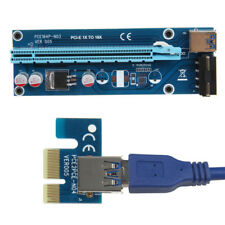 PCIe PCI-E PCI Express Riser Card 1x to 16x USB 3.0 Data Cable SATA to 4Pin IDE