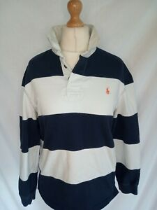 RALPH LAUREN LONG SLEEVE POLO RUGBY SHIRT LARGE AUTHENTIC MENS
