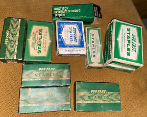 "Vintage Lot Duo-Fast Staples  Tackers Staplers 3/8"" 1/4"" 5/16"" 5/32"" 7/8"" 3/16"""