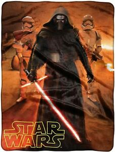 "Disney Star Wars: The Force Awakens, ""Force Trio"" HD Silk Touch Throw Blanket"