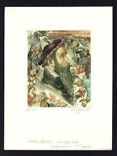 38)Nr.143- EXLIBRIS-David Bekker, Pieter Brueghel, signiert,  C3 - Radierung