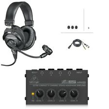 Audio-Technica BPHS1+Headphone Amp Broadcast Stereo Headset & Dynamic Boom Mic