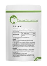 FOLIC Acid 400mcg Tablets  Vitamin B9 Maternal Tiredness Fatigue Pregnancy