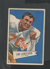 1952 Bowman Small Football Card #144 Jim Lansford-Dallas Texans