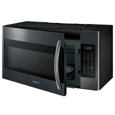 NEW Samsung ME18H704SFG 1.8 cu. ft. Over the Range Microwave in Black Stainless