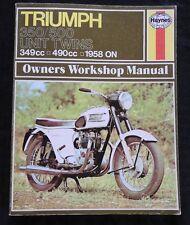 HAYNES 1958-74 TRIUMPH 350 500 21 3TA 5TA T100R TROPHY MOTORCYCLE REPAIR MANUAL