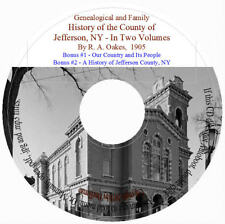 Jefferson County NY Genealogical and Family History - Vol 1&2 1,300+ pages
