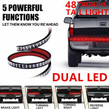 48'' Double LED Strip Tailgate Bar DRL Reverse Brake Stop Signal Light Truck Kit
