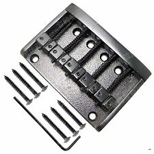 Black Heavy Duty 5 String Bridge Guitar Parts for Bass Guitar Replacement