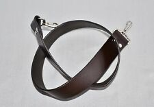 VINTAGE BROWN LEATHER W38mm NECK SHOULDER STRAP FOR SLR/DSLR CAMERA*N79A*