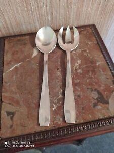 Couvert à Salade Orfèvrerie Christofle Modèle Atlas Métal Argenté