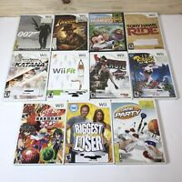 Lot of 11 Nintendo Wii Video Games GUC 9 Complete With Manuals Various Titles