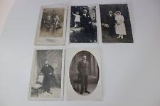 Lote de 5 fotos folios postales antigua - CPA - Hombres - Varios temas